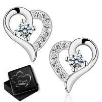 Ohrringe echt Silber 925 Zirkonia Rund 1 Paar 3mm-8mm Mädchen Ohrstecker