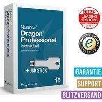 Nuance Dragon Professional Individual v15 Vollversion | Versand mit USB