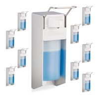relaxdays 10 x Eurospender im Set Seifenspender für Seife Lotion Desinfektionsmittel 500ml