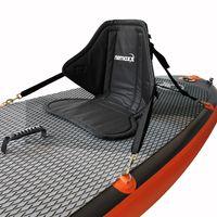NEMAXX Komfort Sitz für SUP mit Sitz- und Rückenpolster Kissen - Stand Up Paddle Board Sitzauflage mit Sitztasche, Kajak- / Kanusitz - rutschfest, schwarz
