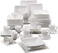 Speiseteller Runden Flachteller Gross KARACA Pure 24-teiliges Tafelservice Geschirr-Set Fur 6 Personen Kuchenteller Schusseln Porzellan