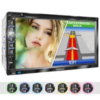 XOMAX XM-2DN6906 2DIN Autoradio mit 6,95' kapazitivem Touchscreen Monitor, DVD-Laufwerk, Micro SD und USB