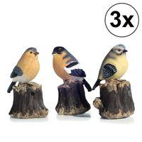 """3er Set Bewegungsmelder """"Vogel"""", 3fach sortiert, Garten, Zwitschern, Terrasse, Deko, Bewegungssensor"""