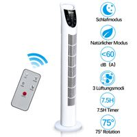 karpal 78cm Turmventilator tower fan 40Watt silent floor fan with remote control, sleep mode, nature mode. 7.5 H timer function. 75 ¡ãdegrees oscillation, shut-off function