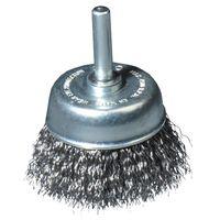 Topfbürste 75mm Ø Stahldraht mit 6mm Dorn für Bohrmaschine Drahtbürste Rundbürste Stahlbürste