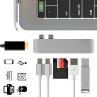 7In1 USB-C Hub Dual Type-C Kartenleser Thunderbolt Adapter HDMI für MacBook Pro