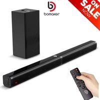 Bomaker Soundbar mit Subwoofer 2.1 Kanal, 4K Ultra HD-Soundbar 100W 32 Inch mit 5 EQ-Modi Bluetooth 5.0 unterstützt Optisch, AUX, USB, TF Karte für Heimkino—Tapio V