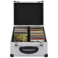 CD-Koffer Bürobedarf,Ablage,Organisation,CD-/DVD-Ordnungssysteme für 40 CDs Aluminium ABS Silbern