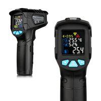 -50  380 ¡æ Industrielles digitales Infrarot-Thermometer Hand-Infrarot-LCD-Temperaturmessgeraet Beruehrungslose IR-Pyrometer-Hygrometer-Industrietemperaturtester
