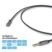 JAMEGA - 5m AUX Kabel Verlängerung   3,5mm Klinkenbuchse zu 3,5mm Klinkenstecker   Audio Verlängerung Klinke Verlängerung