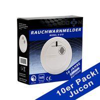 10er Pack Rauchmelder Jucon 10 Jahre Q-Siegel, VDS