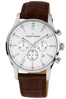 Jacques Lemans Herren Uhr 1-2025B Chronograph Leder braun