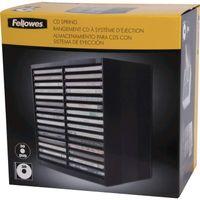 Fellowes CD /DVD Ablagebox Spring schwarz für 30 CDs im Jewel Case (ohne Inhalt)