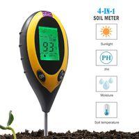 4 in 1 Bodentester Bodenmessgerät Feuchtigkeitsmesser Temperatur Luftfeuchtigkeit Sonnenlicht Intensitäts Meter Pflanze Boden PH Tester