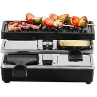 Tefal RE2308 Plug & Share Raclette schwarz 2 Pfännchen+Grillplatte 400 W kompakt