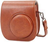 Tasche Kompatibel mit Instax Mini 9 / Mini 8 8+ Sofortbildkamera aus Weichem Kunstleder mit Schulterriemen und Tasche (Braun)