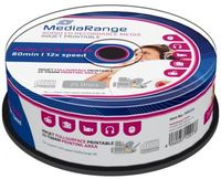 25 Mediarange Rohlinge CD-R Audio full printable 80 Minuten Musik Spindel