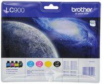 Brother LC-900 Original Tintenpatronen Value Pack (kompatibel mit verschiedenen Brother DCP- und MFC-Modellen)