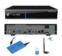 Gigablue UHD TRIO 4K 2160p 1xDVB-S2X MS 1xDVB-C/T2 Tuner + Externe 2TB Festplatte 2,5 Zoll