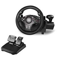 DOYO 270 Grad Motor Vibration Driving Gaming Rennrad mit ansprechendem Getriebe und Pedalen für PC / PS3 / PS4 / XBOX ONE / XBOX 360 / Nintendo Switch / Android
