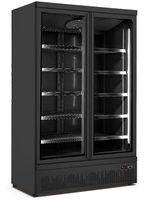 SARO Kühlschrank m.2 Glastüren Modell GTK 1000, schwarz