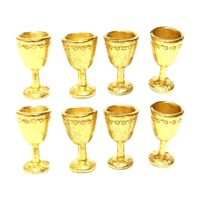8x Weinglas Becher Simulationsmöbel Für Miniatur Puppenhaus Accs Gold