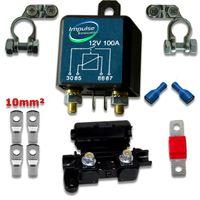 SET RL180 Trennrelais 12V/100A inkl. Sicherungshalter und Anschlussverbinder 10mm²