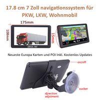 7 Zoll Navigationsgerät DRIVE-7BT Für LKW, PKW, BUS, WOMO. lebenslange Kartenupdate . Bluetooth. AV-IN