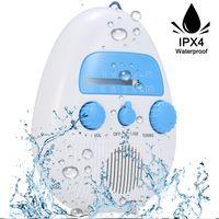 Wasserdichtes Duschradio Wireless Mini tragbare Dusche Radio Lautsprecher mit USB und TF-Kartenanschluss