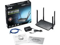 ASUS RT-AC1200 WLAN Router Fast Ethernet Dual-Band (2.4 GHz/5 GHz) Black