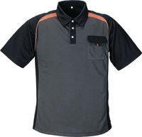 Polo-Shirt  dunkelgrau/orange Gr. XXL