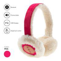 Avanca Stilvolle Bluetooth-Headset mit Earmuffs Fuchsia - Over Ear - Apple - Android