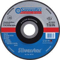 SONNENFLEX Silverstar Inox Schruppscheibe Schleifscheibe VPE 10 Stück Größe:Ø 230 x 8.0 x 22.23 mm