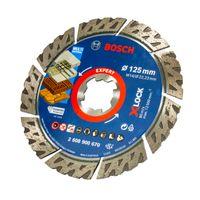 Bosch EXPERT Diamant Trennscheibe X-LOCK 125 mm Multi Material, Ideal für Beton, Ziegel, Dachziegel & Stahlbeton