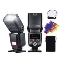 Andoer AD-560II Blitzgerät Speedlite On-Camera GN50 mit Einstellbarer LED Füllleuchte und Farbfilter Diffusor Blitzschuhhalterung für Canon Nikon Olympus Pentax DSLR-Kameras