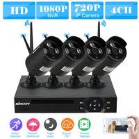 KKmoon Überwachungskamera 4CH 1080P 1MP HD NVR Wireless Videoüberwachung System und 4X Outdoor Überwachungskamera Set