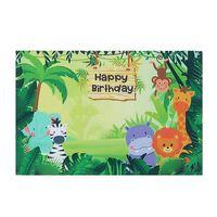 Tier Dschungel Safari Fotografie Hintergrund Geburtstag Party Dekor Vinyl wiederverwendbar