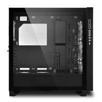 Sharkoon ELITE SHARK CA300H - Tower - PC - Schwarz - ATX - EATX - micro ATX - Mini-ITX - Rot/Grün/Blau - Taschenlüfter