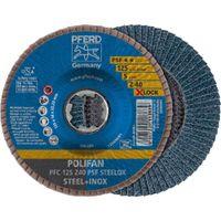 PFERD Fächerschleifscheibe X-LOCK STEELOX K60PSF 115mm
