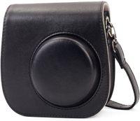 Tasche Kompatibel mit Instax Mini 9 / Mini 8 8+ Sofortbildkamera aus Weichem Kunstleder mit Schulterriemen und Tasche (Schwarz)