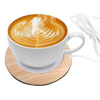 USB Becher Wärmer Tassenwärmer Kaffeewärmer Tasse Heizung Getränkewärmer Wärmer Gadget für Büro/Zuhause, Tee, Kaffee