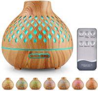 Darmowade Aroma Diffuser, 400ml Luftbefeuchter Ultraschall Duftlampe Atomization Elektrisch Diffusor mit 7 Farben LED Ätherische Öle Luftbefeuchter für zuhause, Yoga, Büro, SPA, Schlafzimmer