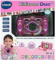 VTech Kidizoom DUO 2 Megapixel Kinderkamera, 4-fach digitaler Zoom, Display 6,1 cm (2,4 Zoll)