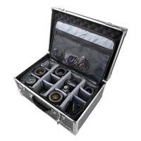 HMF 18440  Fotokoffer, Kamera Transportkoffer inkl. Tasche mit individuellen Trennwänden, 48 x 32 x 22,5 cm