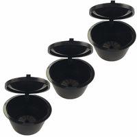 3Pcs umweltfreundliche nachfuellbare Huelsen-Filter-Becherhalter-wiederverwendbare Kapsel-Schalen-Cafetera-Zusaetze fuer alle Standard-Dolce Gusto-Kaffeemaschinen