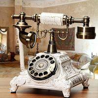 Retro Telefon Vintage Festnetztelefon Haustelefon Nostalgie Tischdek .