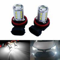 2X H8 H9 H11 6W 21 SMD LED Standlicht Nebelscheinwerfer Nebel Autolampe Birne Weiß 12V