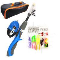 Mini Kinder Angelrute Angelrolle Kit Bestes Geschenk Für Jugendliche, Um Geduld Zu Kultivieren Blau