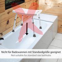 ONVAYA Badhocker Kunststoff weiß | 150kg | Duschhocker höhenverstellbar | Duschsitz | Duschstuhl | Duschhilfe