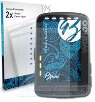 Bruni Basics-Clear 2x Schutzfolie kompatibel mit Wahoo Elemnt Roam Folie
